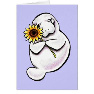 Cartão Fora-Trela ensolarada Art™ do peixe-boi