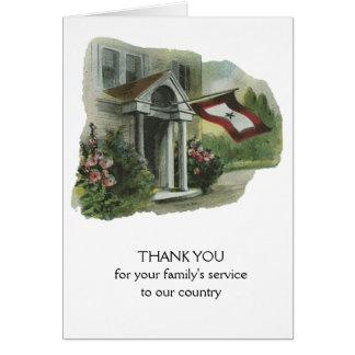 Cartão Forças armadas: Obrigado para o serviço da família