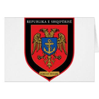 Cartão Forças navais albanesas - Forcat Detare