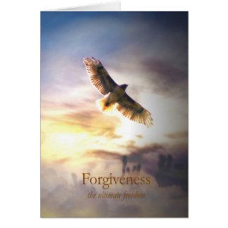 Cartão Forgivness para curar, holístico metafísico