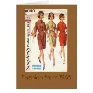 Cartão Forma 1965
