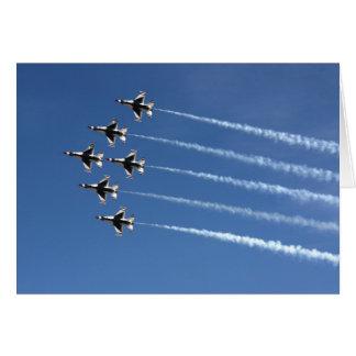 Cartão Formação do delta dos Thunderbirds F-16
