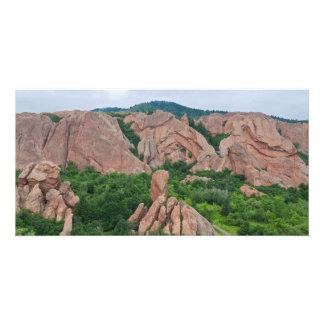 Cartão Formações do vale e de rocha em Roxborough