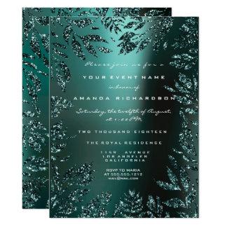Cartão Formal aquático quadro da cerceta do brilho das