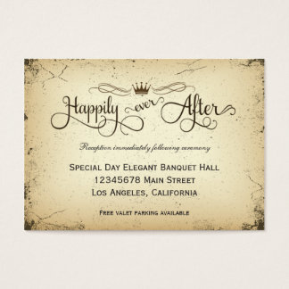 Cartão formal da recepção de casamento do