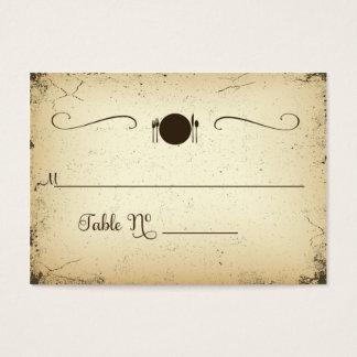 Cartão formal do lugar da mesa do casamento do