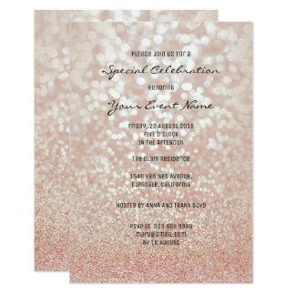 Cartão Formal mínimo da prata do brilho do falso do ouro