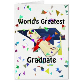 Cartão Formando/cartão da graduação