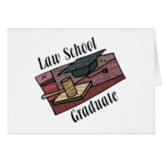 Cartão Formando da escola de direito