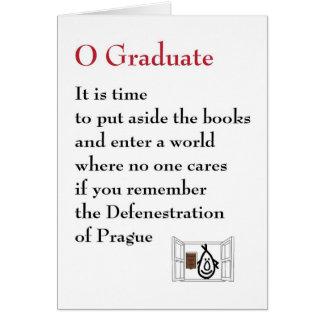 Cartão Formando de O - um poema subtil da graduação