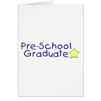 Cartão Formando do pré-escolar (azul)