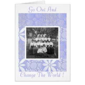 Cartão Formandos das mulheres