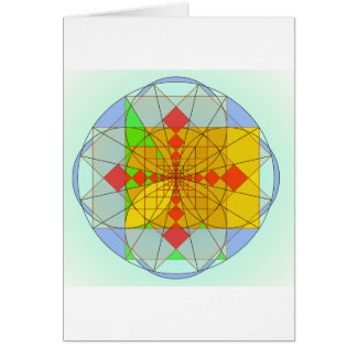 Cartão Formas douradas do retângulo