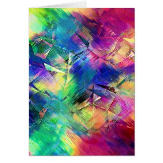 Cartão Formas e texturas coloridas abstratas