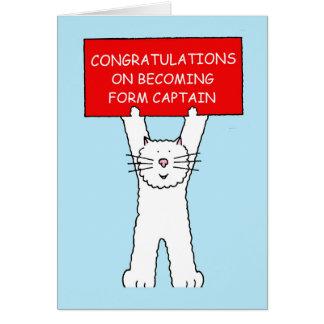 Cartão Forme parabéns do capitão