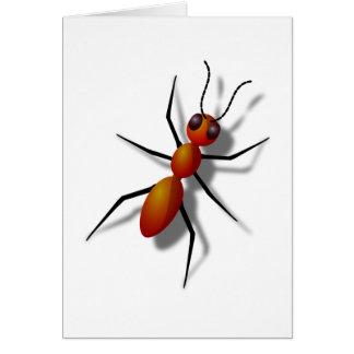 Cartão Formiga vermelha grande