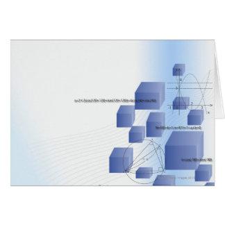 Cartão Fórmula, gráfico, símbolos 5 da matemática