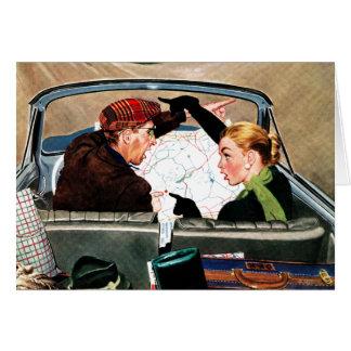 Cartão Forquilha na estrada