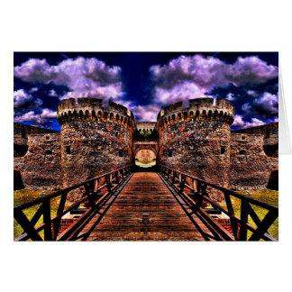 Cartão Fortaleza medieval Kalemegdan Belgrado