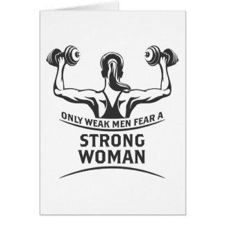 Cartão forte da mulher