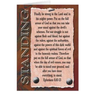 Cartão Forte no senhor