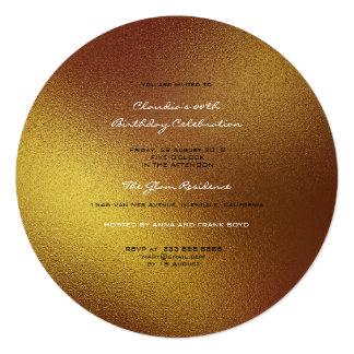 Cartão Fosco de vidro mínimo do planeta do Sepia do ouro