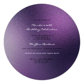 Cartão Fosco roxo Amethyst Noir de vidro mínimo de Ombre