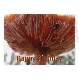 Cartão Fosco Shroom, feliz aniversario
