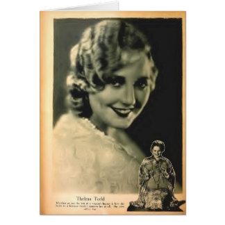 Cartão Foto 1928 do compartimento do filme de Thelma Todd