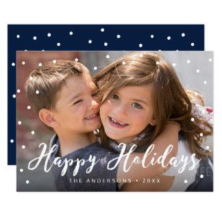 Cartão Foto à moda do roteiro da escova boas festas