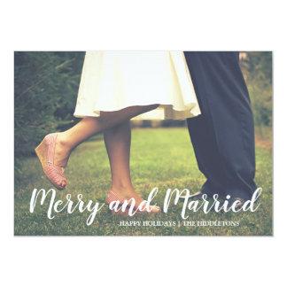 Cartão Foto alegre e casada do Natal do roteiro primeira