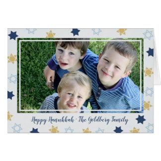 Cartão Foto bonito da estrela azul da estrela de David |