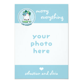 Cartão Foto bonito do Natal de Jingle Bell