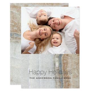 Cartão Foto branca chique formal do mármore boas festas