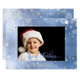 Cartão Foto/caligrafia do feriado do Natal de PixDezines