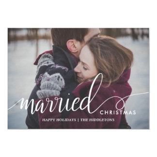 Cartão Foto casada do Natal do roteiro do Natal primeira