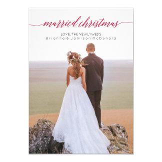 Cartão Foto casada do Newlywed do Natal