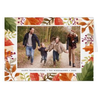 Cartão Foto da acção de graças da recompensa   do outono