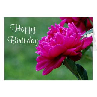 Cartão Foto da flor da peônia