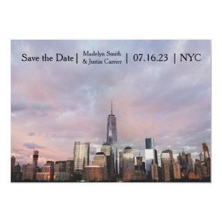 Cartão Foto da torre da liberdade de NYC - salvar a data