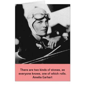 Cartão Foto de Amelia Earhart do vintage