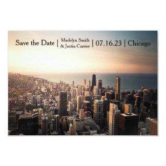 Cartão Foto de Chicago - 3x5 salvar a data