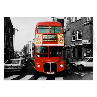 Cartão Foto de cor do ponto do ônibus de Londres