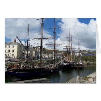 Cartão Foto de Cornualha do porto de Charlestown dos