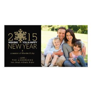 Cartão Foto de família do floco de neve do feriado do
