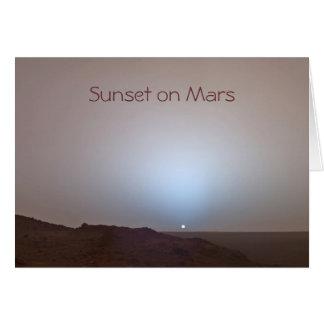 Cartão Foto de Marte do por do sol