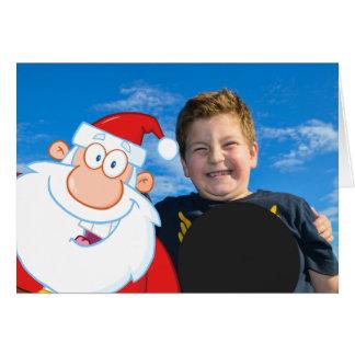 Cartão Foto de Papai Noel Selfie