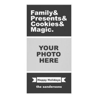 Cartão Foto destilada Natal do feriado