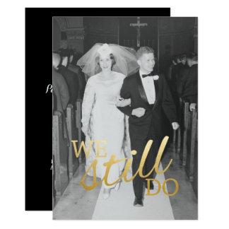 Cartão Foto do aniversário de casamento do costume 56th