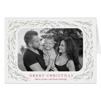 Cartão Foto do boletim de notícias do Natal da beira do